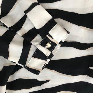Ann Taylor Tops - Ann Taylor Zebra Striped Blouse